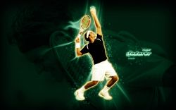Roger Federer Serving Widescreen